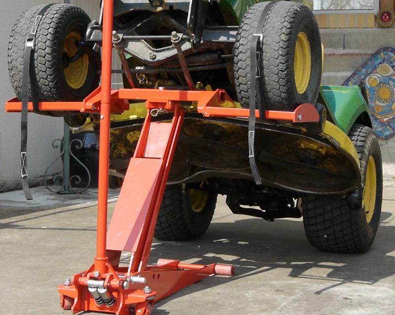 L'entretien de votre tracteur tondeuse - le lève tondeuse