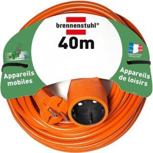 Avis - Brennenstuhl rallonge électrique 40m (câble H05VV-F 2x1,5, Orange), Fabrication Française