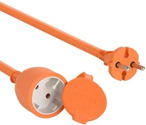 Avis - Electraline 20857038F Prolongateur jardin avec clapet 16 A 25 m Orange