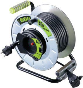 Test - Masterplug pro xT-garten-enrouleur de câble avec protection thermique, câble 40 m et 3 m, oTLG4016RRFL31P-pX