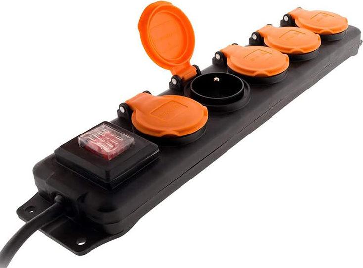 test et avis Bloc Étanche IP44 5 Prises 16A 2P+T avec Clapets et Interrupteur